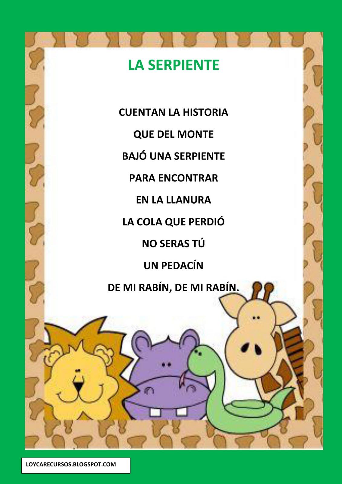 Poemas De Animales Para Ninos