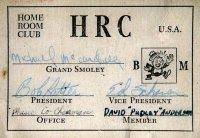membership card for . . .