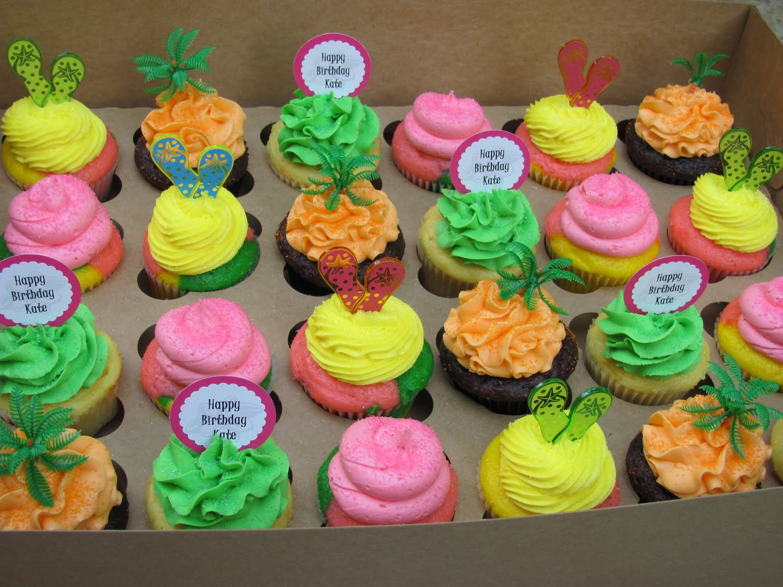 Luau Cupcakes Ideas