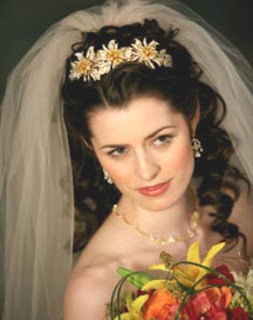 Bride with Flower And Wedding Hair Styles