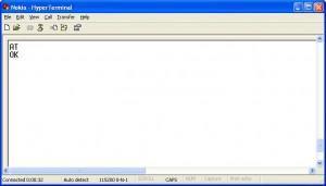 Cara cek Modem Wavecom dengan Hyperterminal