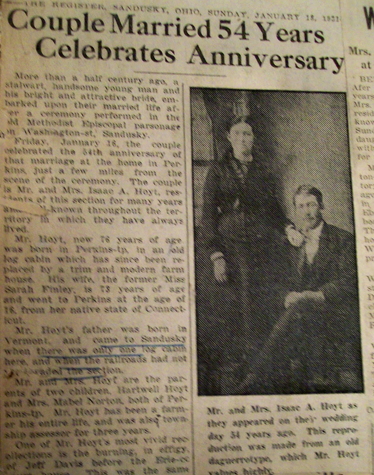 How to scrapbook with newspaper clippings - In The Second Half Of The Scrapbook Are Newspaper Clippings Of Events That Were Important To Grandma Ada Below Is An Article About Distant Relatives Who