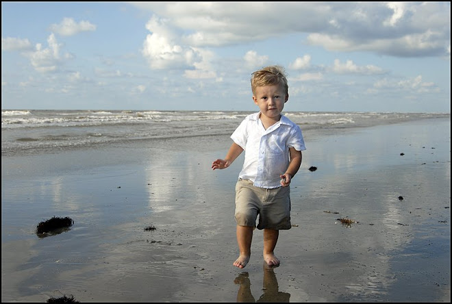 Nolan on the beach