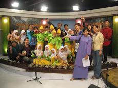 Murid-murid ku di studio tv9