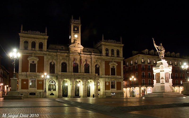 Noche córneo aficionado cerca de Valladolid