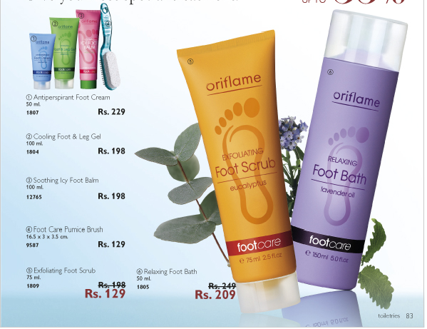 oriflame foot care