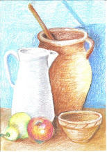 Drawing & Composition (Pastel or Crayon).     Subject  about still life,landscape and portrait.