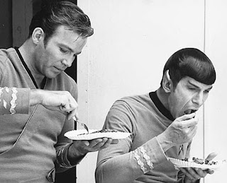 lunch break on StarTrek set