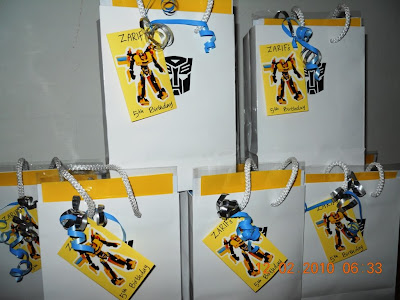 ZARIFs BUMBLEBEE Glossy Paper Bag Party Packs For All His Friends