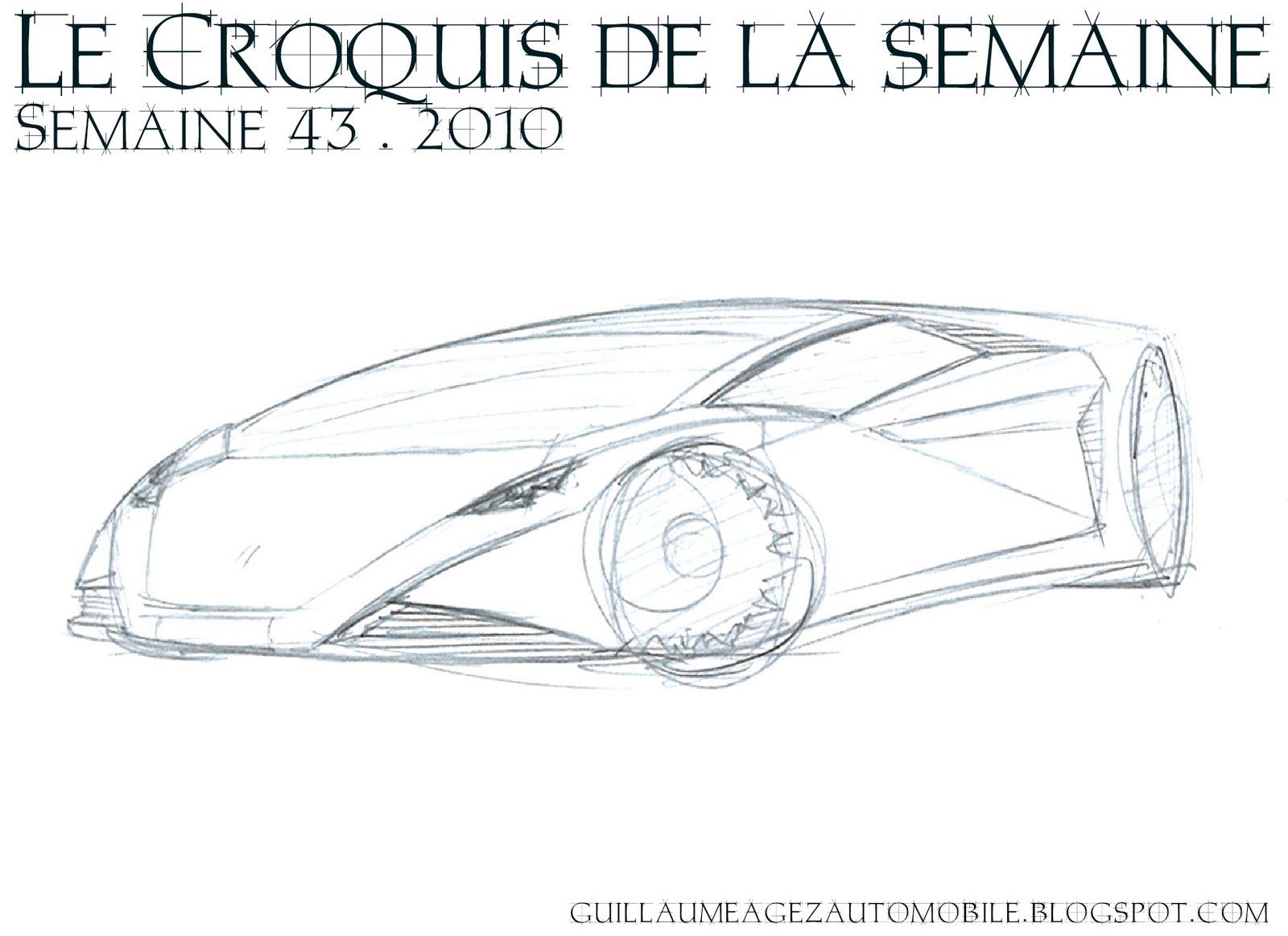 Guillaume AGEZ Automobile: Le Croquis De La Semaine (43