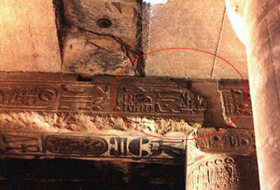 Ukiran Helicopter Di Dinding Kuil Abydos