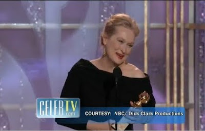 Meryl Streep Golden Globes best actress Julie and Julia 2010 acceptance speech screencaps images photos pictures screengrabs captures video