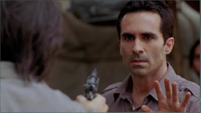 Richard Alpert Nestor Carbonell Daniel Faraday Jeremy Davies Lost Follow the Leader screencaps images photos pictures stills screengrabs gun dead shot