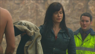Gwen Cooper Eve Myles Ianto Jones Gareth David-Lloyd Torchwood Children of Earth Day 2 looking at Jack screencaps images photos pictures screengrabs