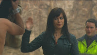 Gwen Cooper Eve Myles Torchwood Children of Earth Day 2 looking at Jack screencaps images Ianto Jones Gareth David-Lloyd photos pictures screengrabs