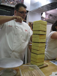 Cake Boss Fireworks Falling Fondant and Fathers Frank Amato cake tower skyscraper screencaps screengrabs capture images photos pictures