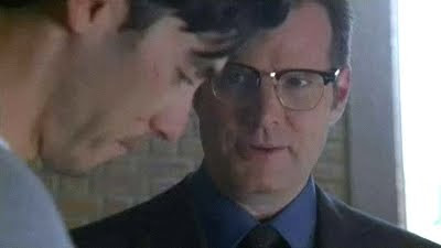 Heroes Peter Petrelli Milo Ventimiglia Noah Bennet Jack Coleman Heroes Orientation Push Jump Fall screencaps pictures images photos HRG glasses screengrabs captures premiere video
