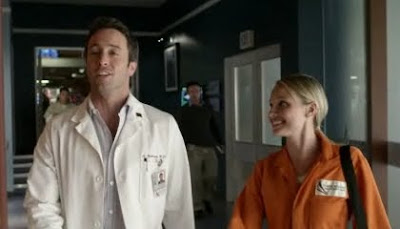 Dr. Doctor Andy Yablonski Alex O'Loughlin Amber Clayton Dr. Lisa Reed Three Rivers Where We Lie screencaps images photos smile grin pictures