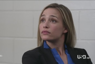 Covert Affairs Pilot episode screencaps Annie Walker Piper Perabo CIA agent images photos pictures screengrabs captures police FBI interrogation call girl hooker