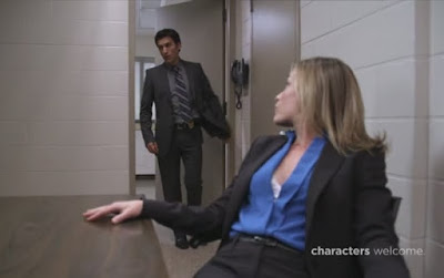 Covert Affairs Pilot episode screencaps Annie Walker Piper Perabo CIA agent images photos pictures screengrabs captures Noam Jenkins Vincent Rossabi FBI police interrogation call girl hooker