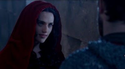 Merlin The Tears of Uther Pendragon screencaps images photos pictures screengrabs Morgana Katie McGrath cloak castle night guard