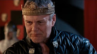 Merlin The Tears of Uther Pendragon screencaps images photos pictures screengrabs Anthony Head crown drunk celebration