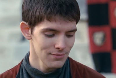 Merlin The Tears of Uther Pendragon screencaps images Colin Morgan smug smile victory magic photos pictures screengrabs