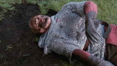 Merlin The Tears of Uther Pendragon screencaps Arthur mud pile puddle fall Bradley James images photos pictures screengrabs