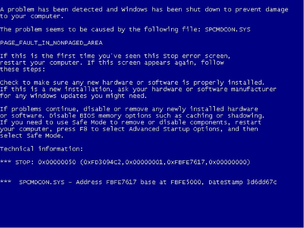 Pantalla azul al instalar windows XP