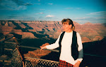 Gunvor vid Grand Canyon (sunset) Mars 1995
