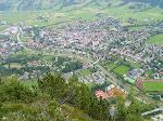 Oberammergau - Tyskland, sett från berget Kofel