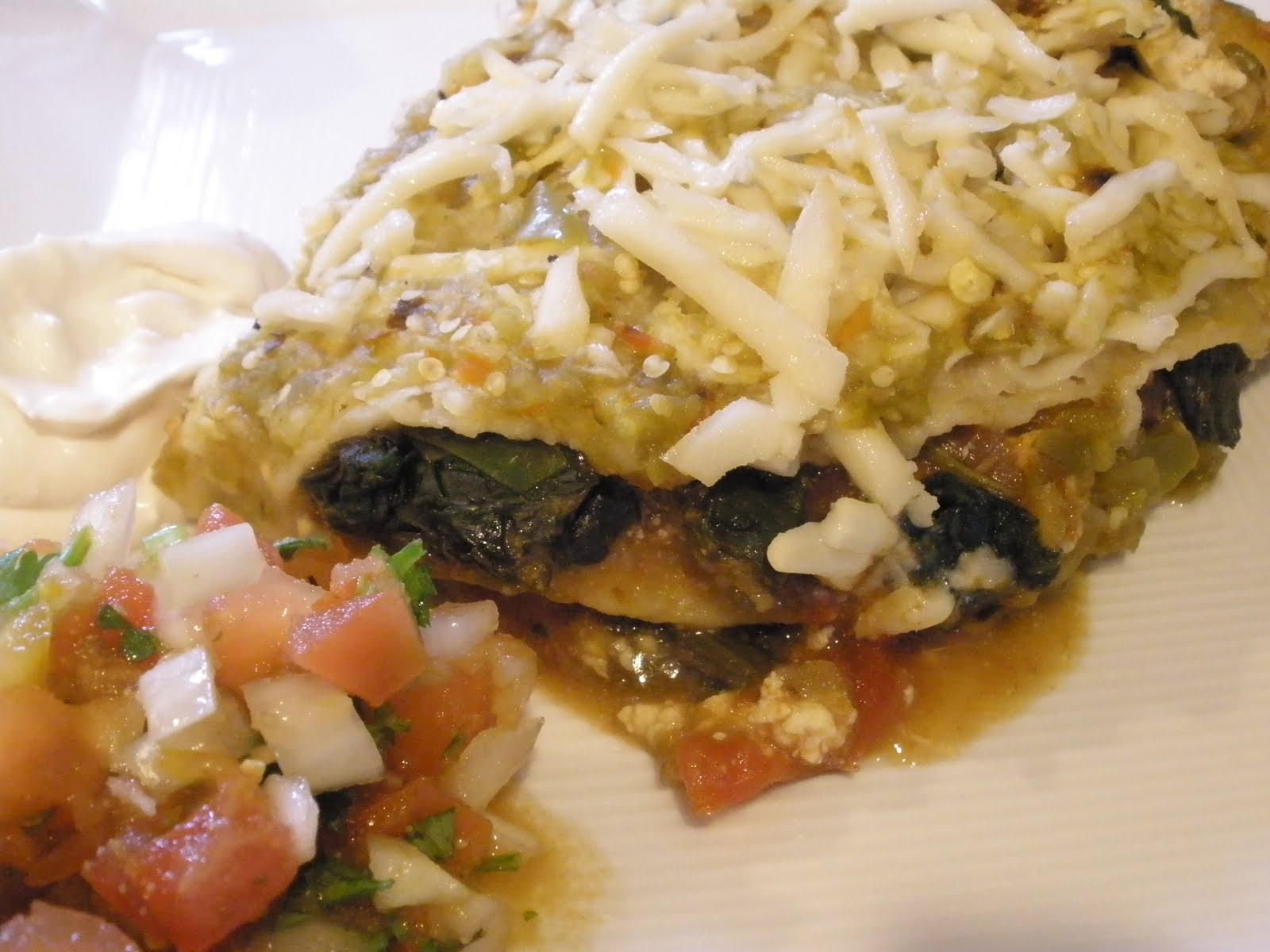 ... pure mama.: Black Bean Spinach Enchiladas with Roasted Tomatillo Sauce