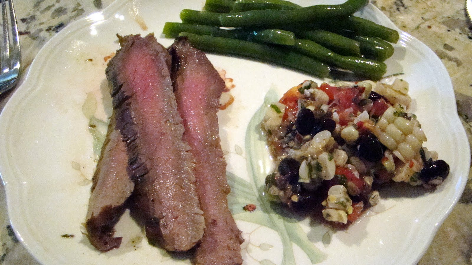 The Bear Cupboard: MIRACLE-MARINATED GRILLED FLANK STEAK