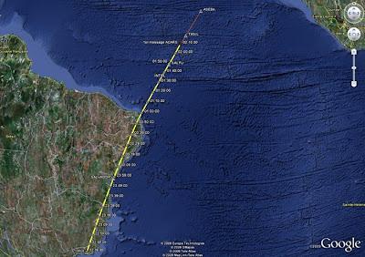BEA image:AF447 flight path