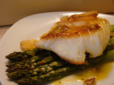 ... and Honey: Pan-Seared Sea Bass with Meyer Lemon and Blood Orange Sauce