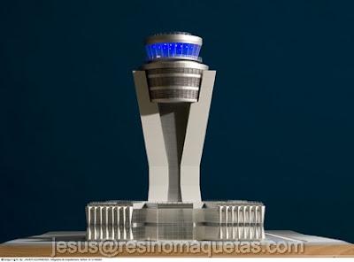 Resino maquetas torre de control ghardaia argelia for Oficinas bbva toledo