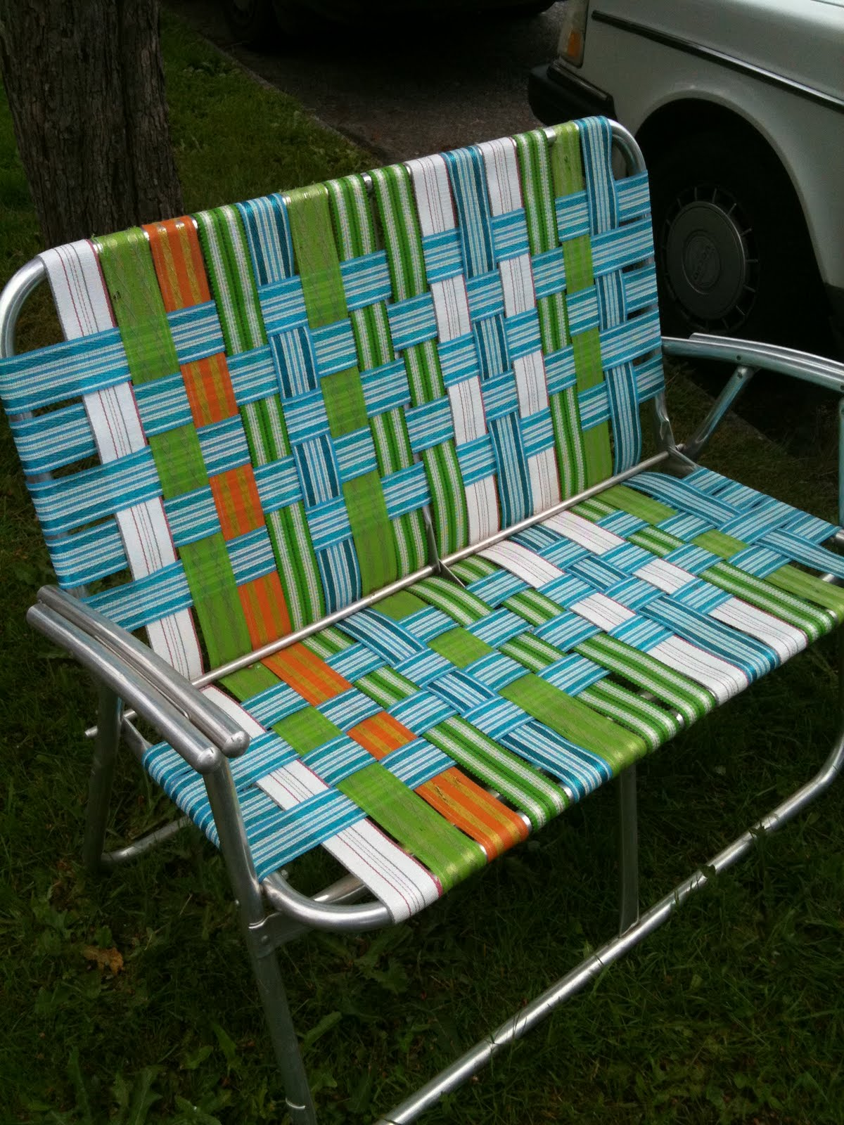 SEATTLE JUNK LOVE SOLD ca 1970 s era aluminum double lawn chair $25
