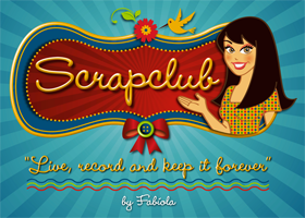 SCRAPCLUB: ilustrao com aplicao em peas grficas e layout de blog