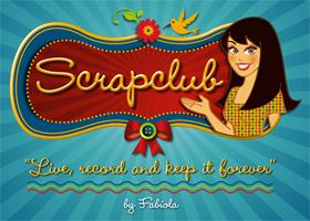 SCRAPCLUB: ilustração com aplicação em peças gráficas e layout de blog