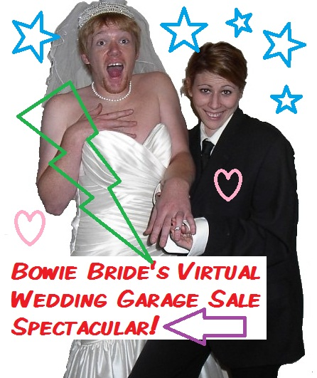 I am so excited to announce the opening of my Virtual Wedding Garage Sale