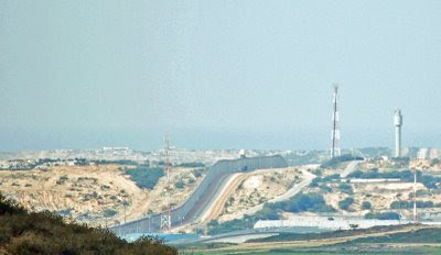 Gaza border - click for larger image
