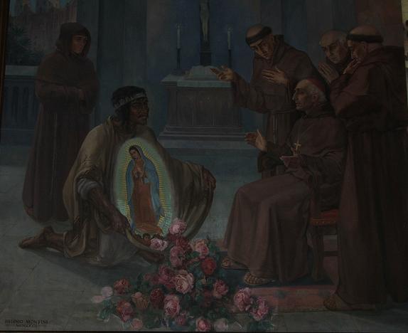 Imagen de la Virgen de Guadalupe, en el áyate.