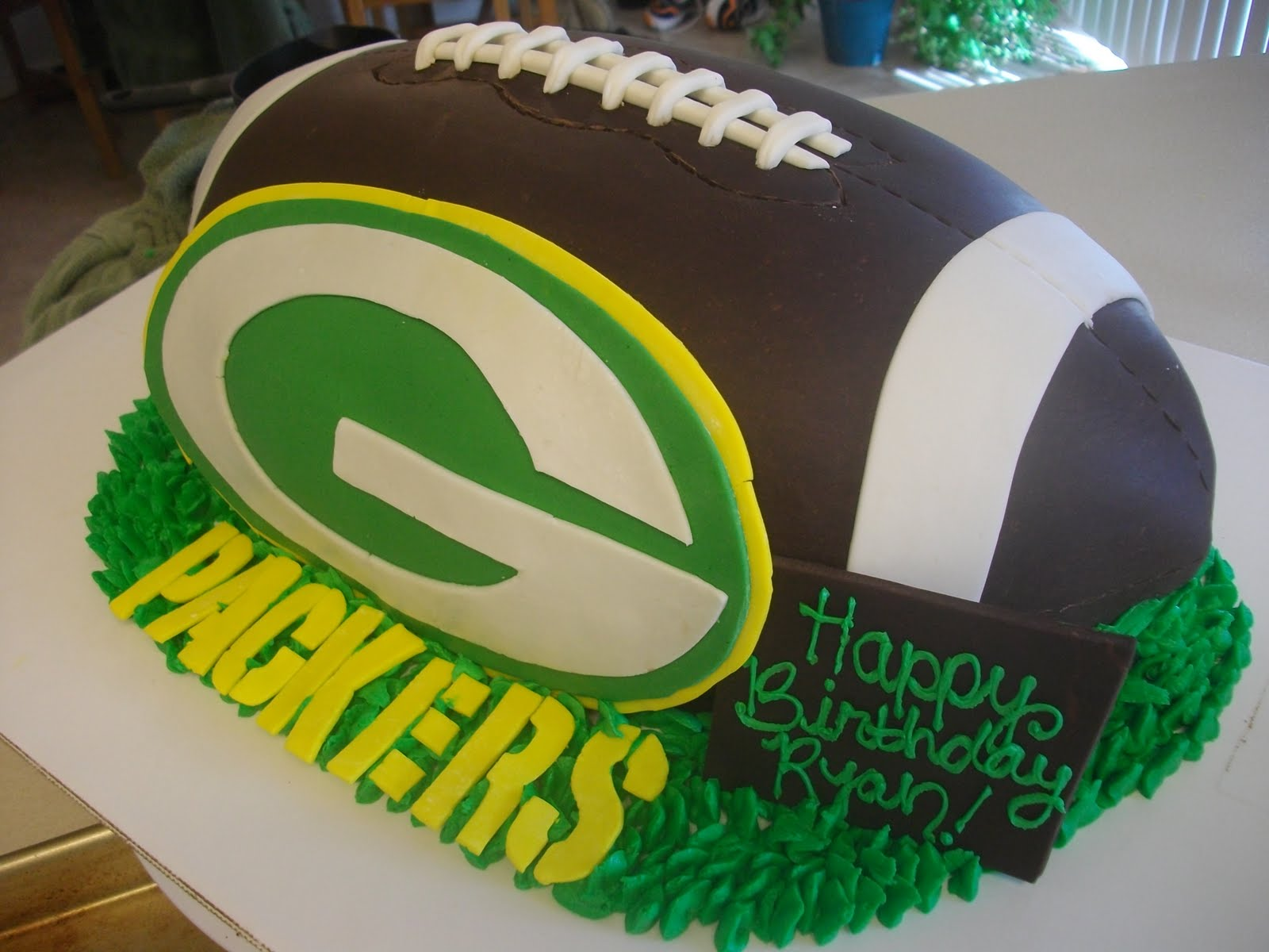Aubrys Cakes Green Bay Packers Birthday Cake
