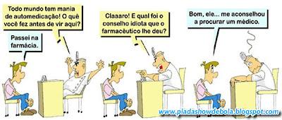 Quadrinhos Engraçados - Automedicação