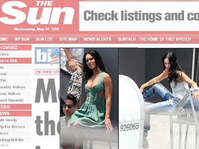 Megan Fox com vestido decotado em ensaio fotográfico