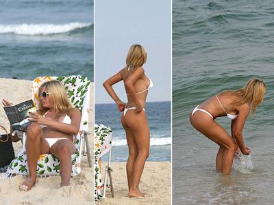 Myriam Martin de biquini na praia