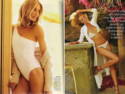 Cameron Diaz de biquini na Revista Vogue