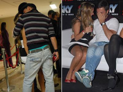Fernanda Souza paga calcinha e ganha beijo