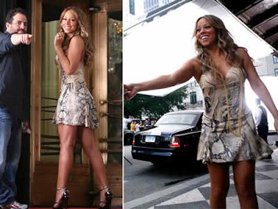 Mariah Carey de micro-vestido em novo video clipe