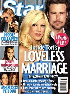 Farsa: Casamento de Tori Spelling e Dean McDermott